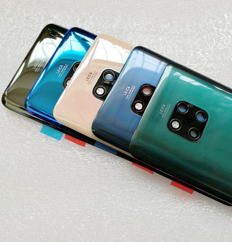 New For Huawei Mate20 Mate 20 Pro Battery Glass Back Cover Case For Huawei Mate 20 Battery Housing Cover With Camera Lens