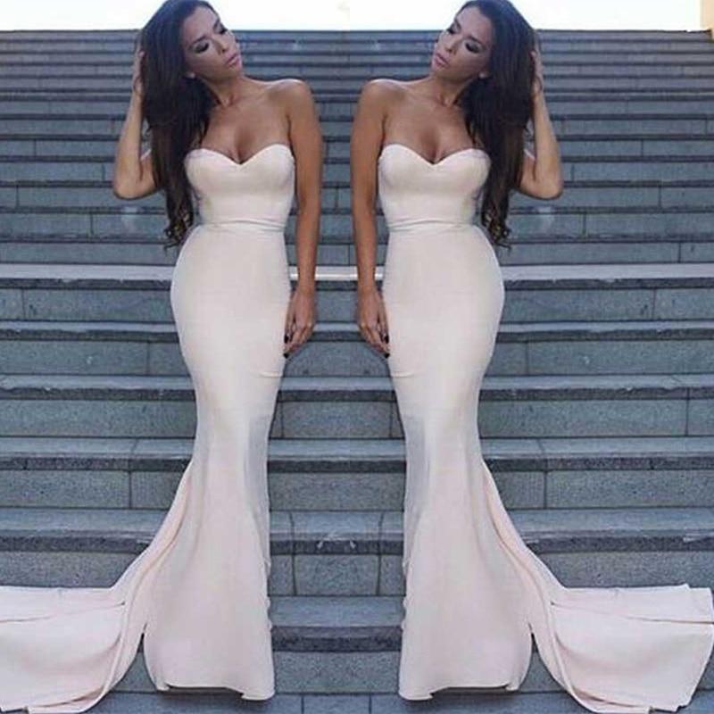 Trust LinDa Glamorous Sweetheart Mermaid   Bridesmaid     Dresses   Gorgeous Long Train Party Wear   Dress   Custom Made Prom Gowns 2018