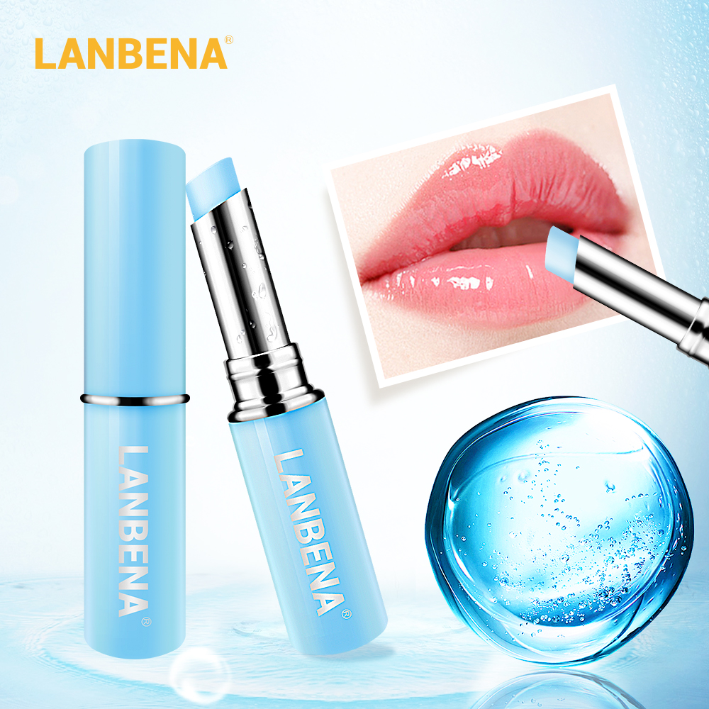 LANBENA Hyaluronic Acid Lip Balm Lip Plumper Moisturizing Reduce Fine Lines Relieve Dryness Long-Lasting Protection Lip Care 1
