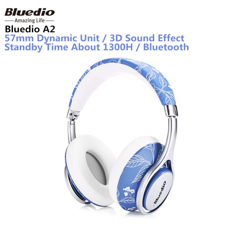 Original Bluedio A2 Bluetooth Headphones Over-ear Headset Fashionable Wireless Headphones for phones and music iskas headphones bluetooth subwoofer ear phones bass original music technology best new free tecnologia eletronica phone good