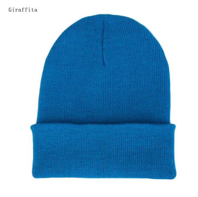 High Quality Winter Hats Korean Casual Set Head Men Women Knit Cap Elastic Gorro warm Wool Hat(China)