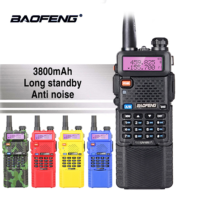 Baofeng UV-5R 5 w 3800 mah 7.4 v Batterie Talkie Walkie UV 5R Portable UHF VHF 136-174 mhz 400-520 mhz Two Way Radio Jambon PTT CB Radio