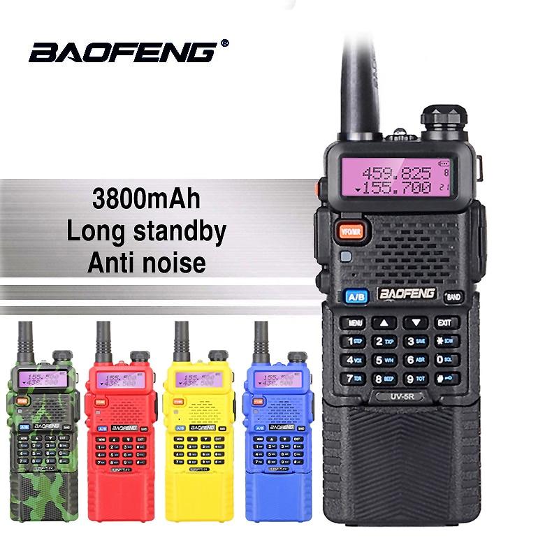 Baofeng UV-5R 5 watt 3800 mah 7,4 v Batterie Walkie Talkie UV 5R Tragbare UHF VHF 136-174 mhz 400-520 mhz Two Way Radio Ham PTT CB Radio