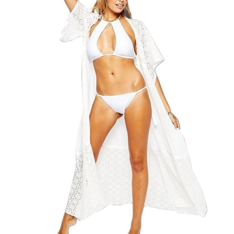 Sexy dámské krajky dlouhé ženy plážový výprodej super plavky oblek zakrývá sady
