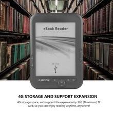 Черный 8 Гб новый 6 дюймов e INK электронные чернила экран цифровая электронная книга считыватель штрих-кода с чтения электронных книг чехол для чтения электронных книг e-ink