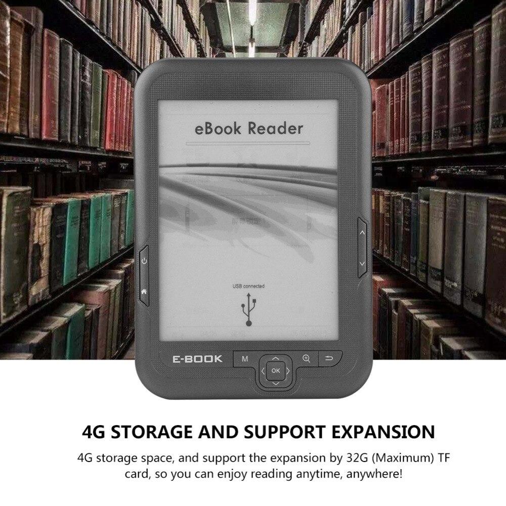 Noir 8 GB nouveau 6 pouces e encre électronique écran d'encre numérique ebook lecteur avec ebook cas ebook lecteur e-ink