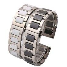 16mm 18mm 20mm Ancho Reloj De Cerámica Correa Con Hebilla de Implementación Con Botón de cierre de implementación de diamantes de la moda pulseras de reloj