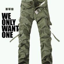 Военная униформа брюки мужские Мульти-карман моющийся комбинезон мужские свободные хлопковые брюки мужские военные брюки карго для мужчин, большой размер 28-42