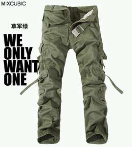 military uniform pants men Multi-pocket washed overalls men loose cotton pants men military cargo pants for men,large size 28-42