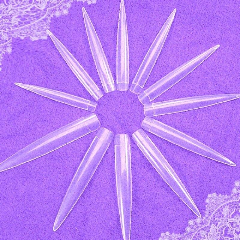 120 шт./компл. длинные на шпильках острый императрицы накладные ногти из акрила для французского маникюра ногтей Поддельные Советы