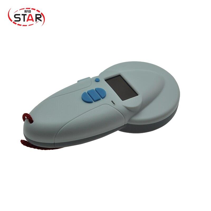 Животного портативный rfid считыватель ISO11784/5 FDX B/EMID 134,2 кГц 125 кГц pet bluetooth микрочип сканер для скота управления