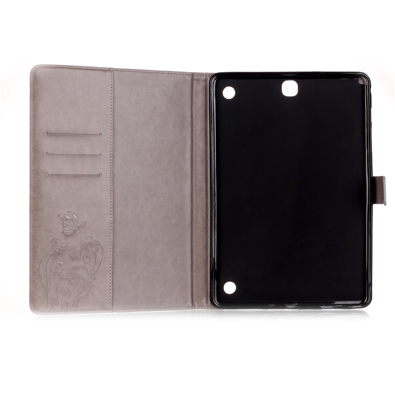 Hot Selling Flower Luxury PU Leather Case Folio Flip Stand Wallet Case For Samsung Galaxy Tab A 9.7 T550 T555 With Card Holder