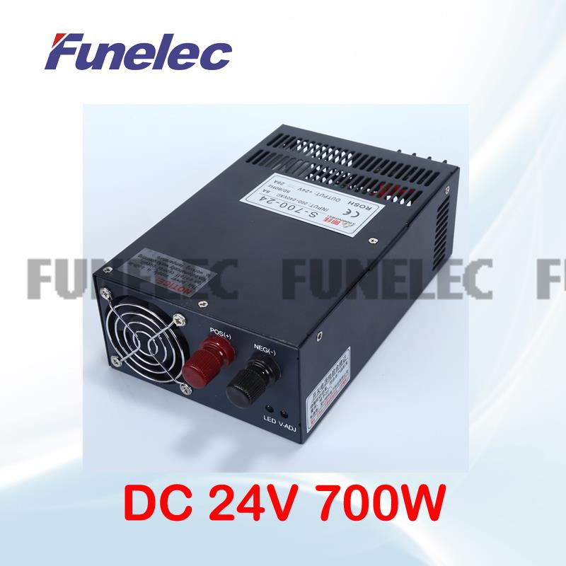 power supply dc 24v block power  for nes LED Strip 29A 700W Led Driver charger with CNC 3D Print transformer 220v 110v to dc USP