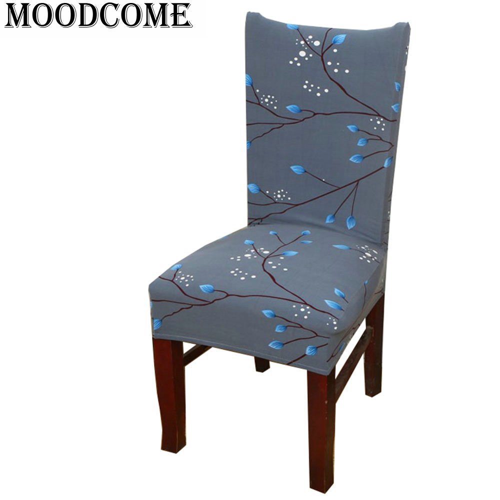 Flower bones chair cover elastic spandex funda silla comedor housse ...