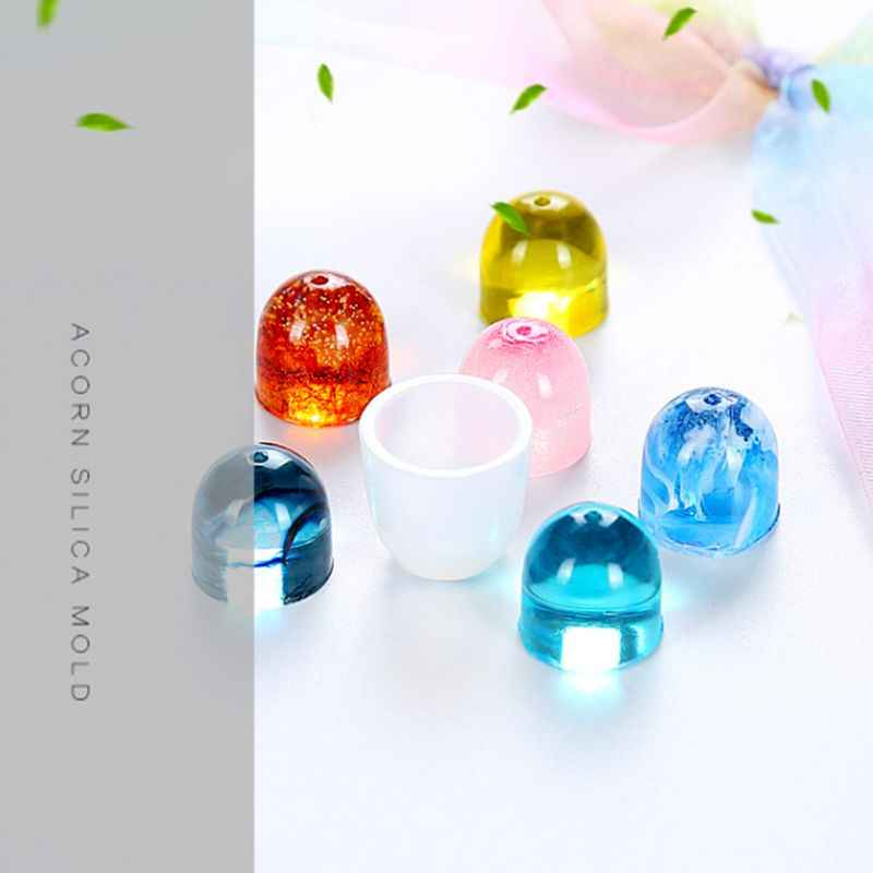 DIY Silicone Mold Pendant Cap Holder Epoxy Resin Jewelry Making Tools Necklace Molds 3D Solid Handmade Gifts Fondant Cake Bakery