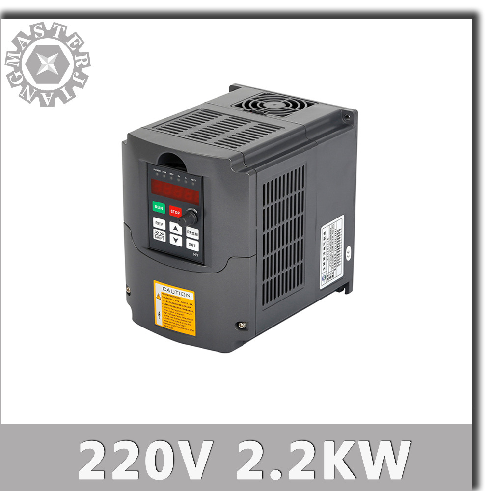 For 2 2KW spindle 2 2kw 220V HY Inverter 2 2kw HY VFD Spindle Inverter 220V