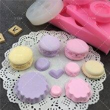 Molde de silicone para confeitaria, ferramenta de cozinha para fondant em formato de macaron, bolos e sabonetes