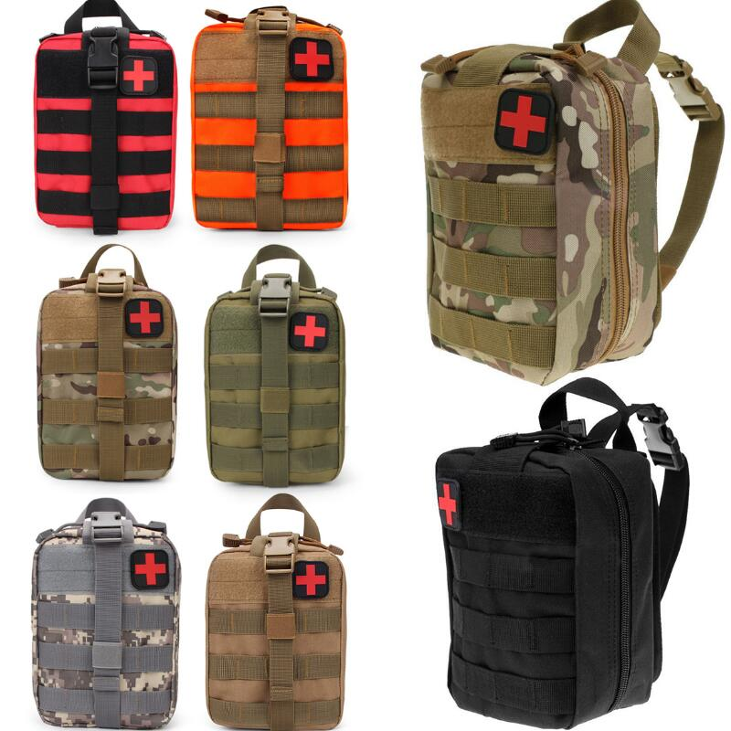 Multifunctional Tactical Medical Bag Travel First Aid Kit Waist Pack Camping Climbing Bag Camouflage Emergency Case Survival Kit