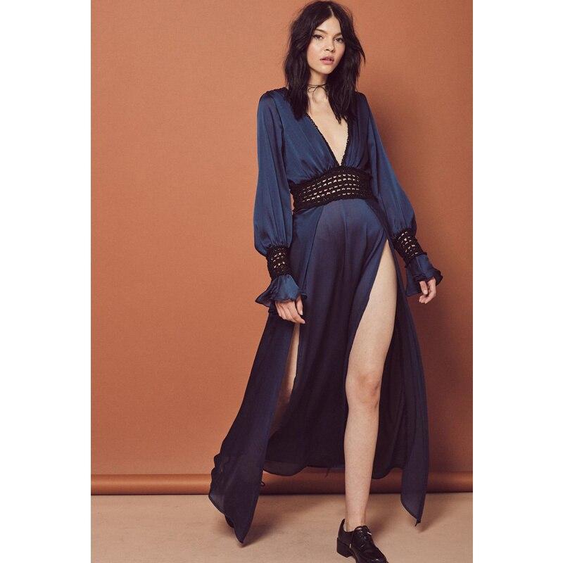 Aliexpress.com : Buy 2018 Summer Elegant Navy Blue Long