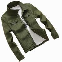 New Mens Denim Baseball Jacket Coat Male Outwear Jeans Jacket And Coats Fashion Design Spring Autumn
