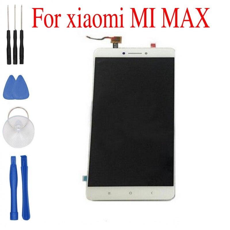 imágenes para En stock reemplazo lcd pantalla y pantalla táctil digitalizar montaje para la pantalla xiaomi max 6.44 pulgadas blanco