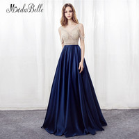 modabelle Navy Blue Beading Prom Dresses Women Party 2018 Off The Shoulder Special Occasion Dresses For Graduation Gala Gowns