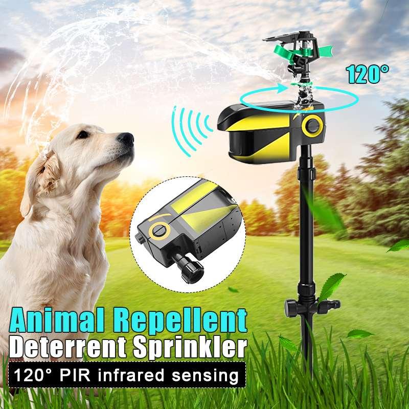 Cat Pest Repeller Dog Bird Deterrent Repellent Solar Powered Motion Activated Garden Animal Repeller Water Sprinkler Timer