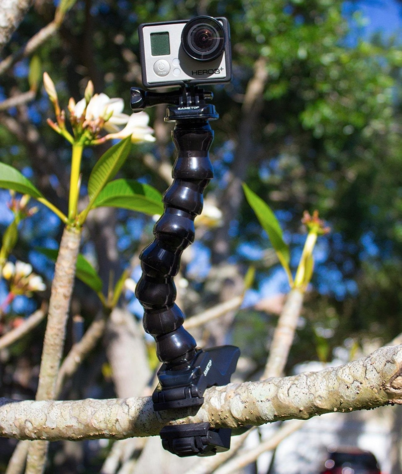 Flexible Arm Camera Flash Bracket Holder Mounts Strong Clip Mount Holder with Serpentine Arm Gopro Screw For hero5 4 3 in Tripods from Consumer Electronics