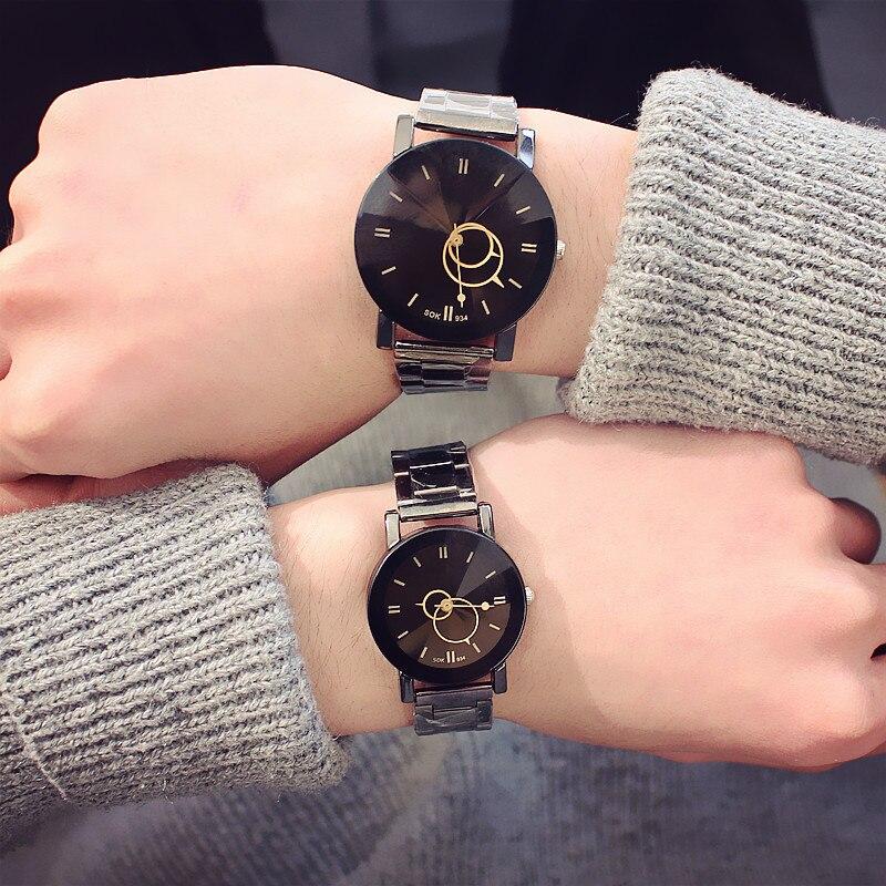 Harajuku Lover's Watches Fashion Casual Men Watch Women Quartz Wristwatch Reloj Mujer Relogio Masculino Pair Clock Gift For Men