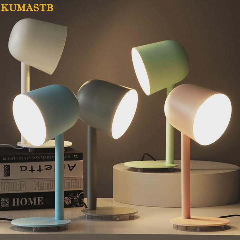 Modern Iron Luminaria de mesa Living Room Simple Tafellamp Study Desk Lamp Bedroom Bedside Desk Night Light KUMASTB 5 colors ceramic table lamp for living room desk lamp luminaria de mesa for kid s room