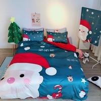 Рождественский домашний текстиль постельное белье высокого качества 4 шт. Комплект постельного белья новогодние украшения новогодние това