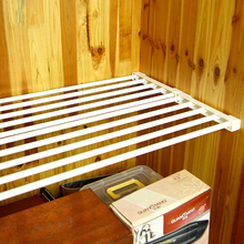 Sale Telescopic Spacer Frame Storage Rack Retractable Commodity Shelf Wardrobe Storage Rack Cabinets Kitchen Partition Nail free