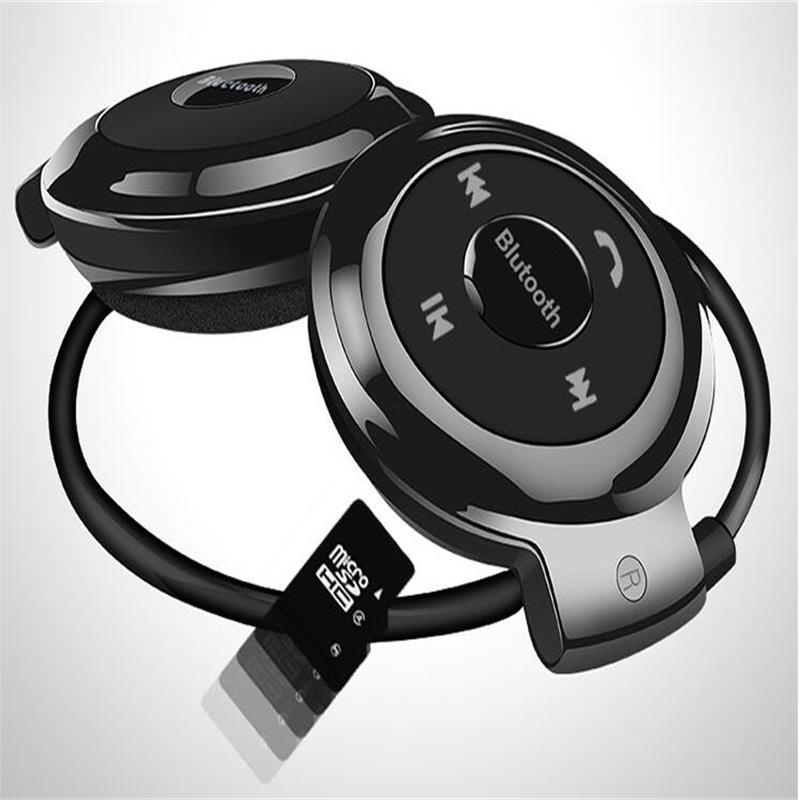 2GB Memory Card MINI503 Wireless Bluetooth Headphones Fm Radio Headphone Sport Music Stereo Earpics Micro SD Card Slot Headset