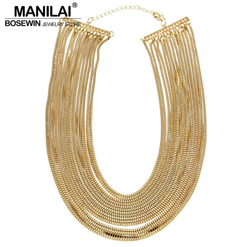 MANILAI Women Statment Jewelry Fashion Multilayers Chain Wide Pendants Bib Chokers Necklaces Bijoux Femininas Maxi Collares женская футболка other t tshirt 2015 blusas femininas women tops 1