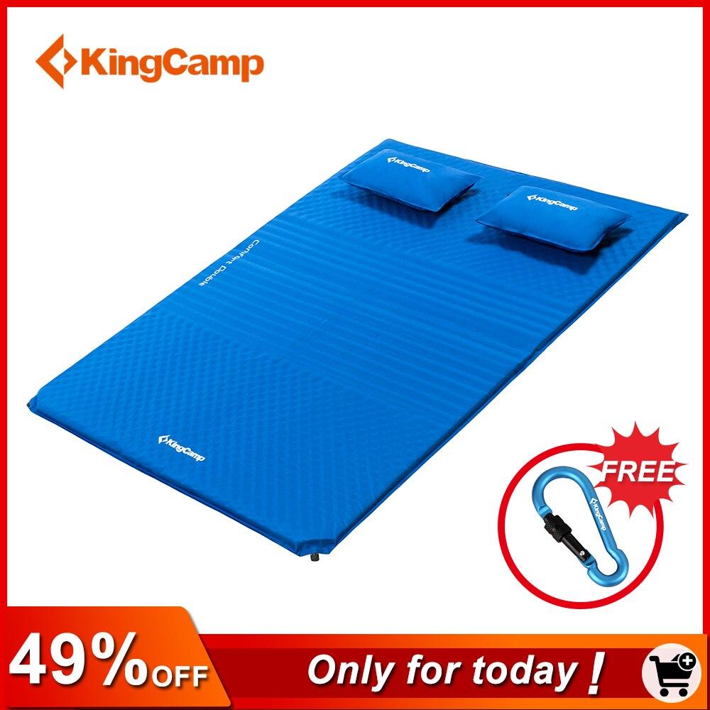 KingCamp Confort Matelas Autogonflant humide-preuve 2-Personne Camping tapis avec oreillers Gonflable Matelas