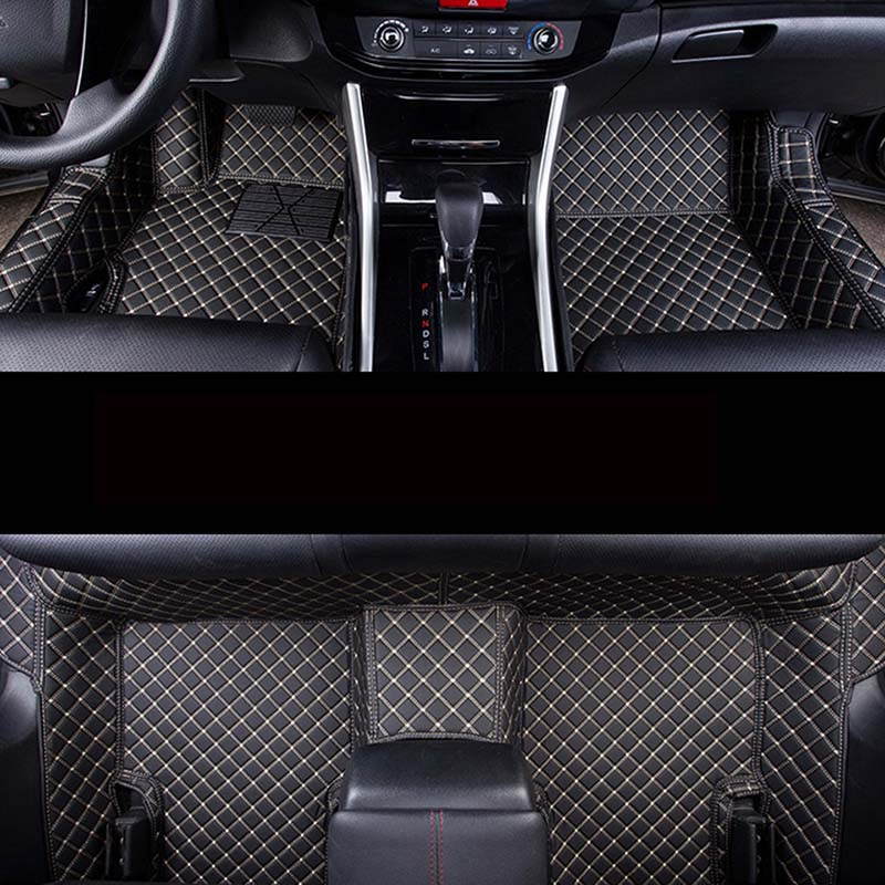 Auto car carpet foot floor mats For hyundai santa fe 2007 fe 2011 solaris 2017 elantra i30 i40 i10 i20 2010 2013 accent car mats auto floor mats for honda cr v crv 2007 2011 foot carpets step mat high quality brand new embroidery leather mats