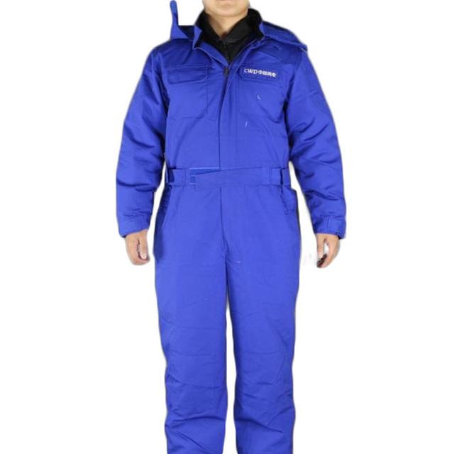 Homens de Segurança roupas grosso casaco quente para baixo macacão de inverno roupas de Trabalho Dos Homens de roupas Proteger com capuz macacões Plus Size M-XXXL