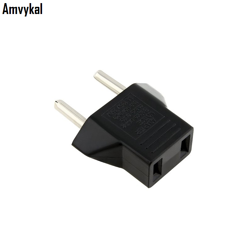 Amvykal US to EU Plug Adapter Universal Europe Travel Charger AC Power Electrical Plug EU Socket Converter 2000 pcs/lot