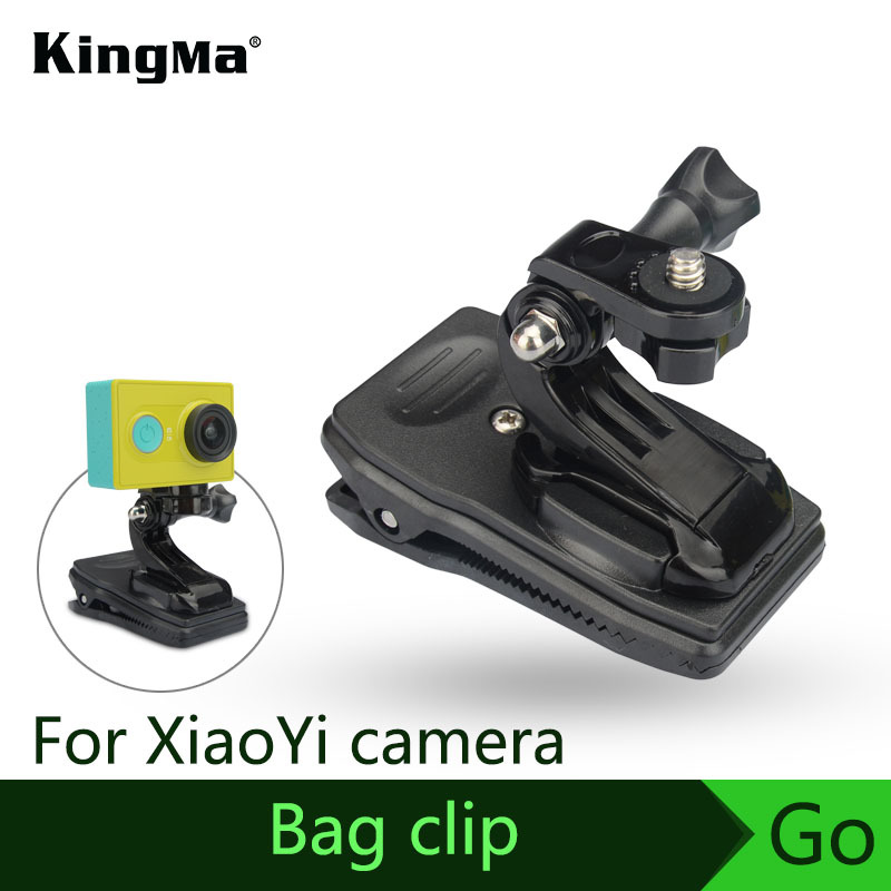 KingMa NEW Arrive Bag Clip Fast Clamp Mount For XiaoYi Action Camera Accessory With Adapter Free Shipping