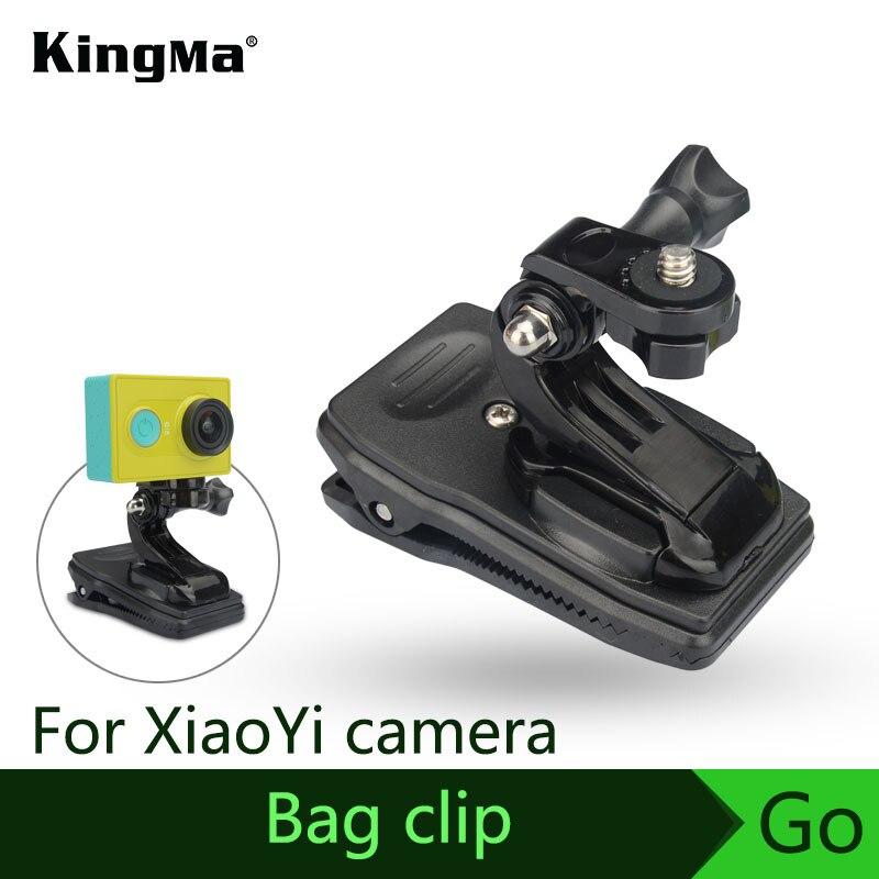 KingMa NOUVEAU Arrivent Sac Clip Rapide support de Fixation Pour XiaoYi D'action Caméra Accessoire Avec Adaptateur Livraison Gratuite