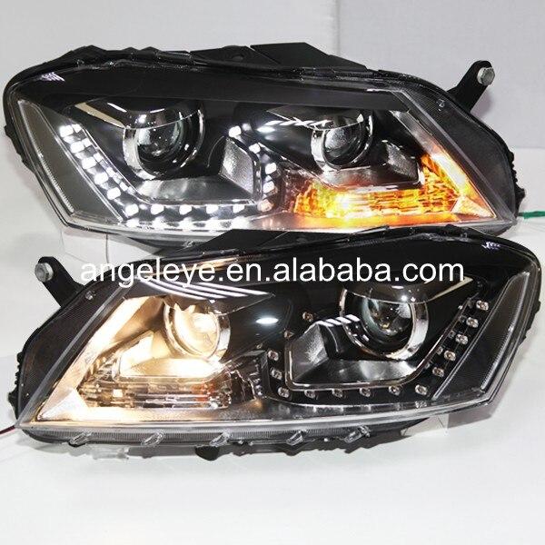 2011-2014 год для Volkswagen <font><b>Passat</b></font> Magotan <font><b>b7</b></font> светодиодный налобный фонарь черный Корпус TLZ