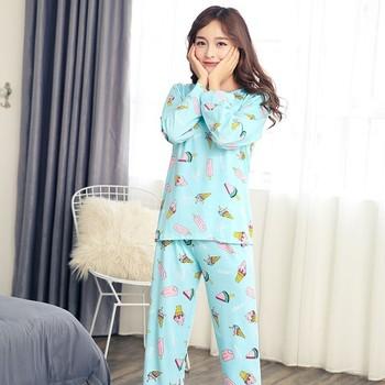 Shirt Autumn Winter Women Pyjamas Thin Long Sleeve Pajamas Set Student Tracksuit Tops Female Pyjamas Sets Night Suit Sleepwear Пижама