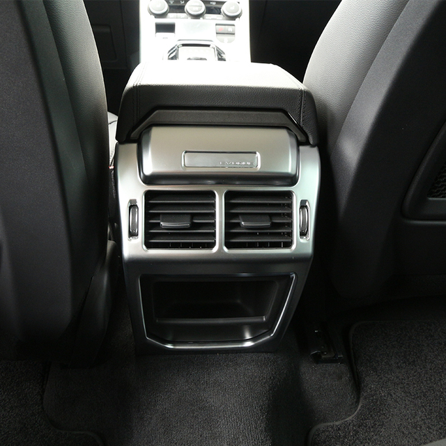 For Land Rover Range Evoque 2017 2016 Car Interior Accessories Rear Air Outlet Vent Protection Frame Cover Trim Sticker