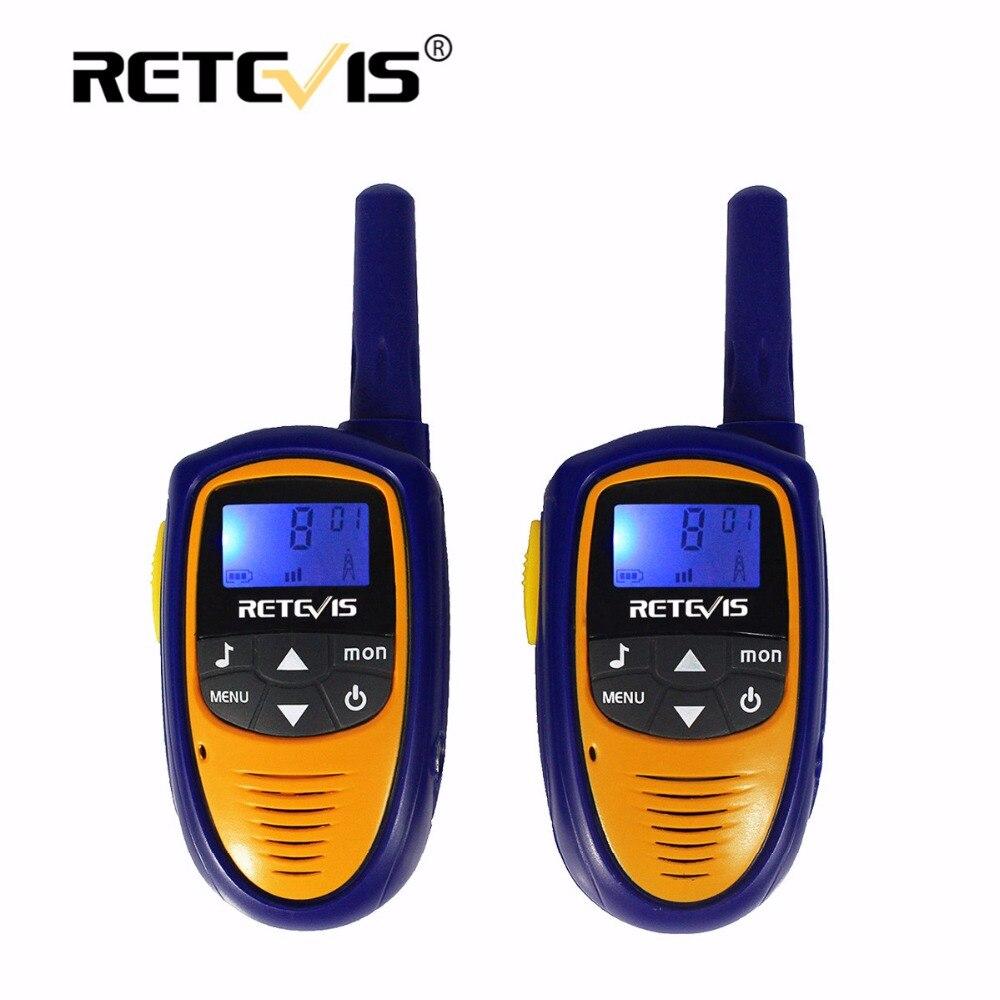 2 unids Mini Walkie Talkie Para Niños Radio Retevis ROMERO RT31 0.5 W 8/22CH PMR FRS/GMRS Portátil de Dos Estación de Radio Niños Transceptor Hf
