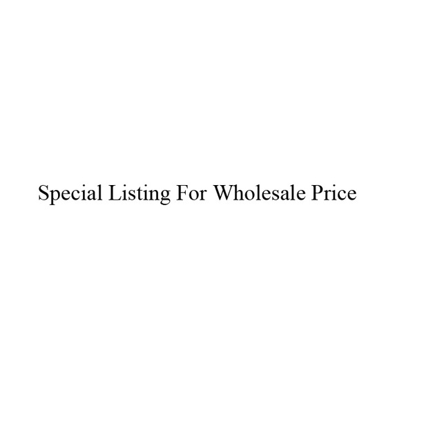 Special listing for wholesale