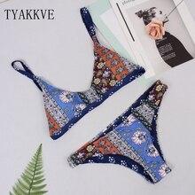 TYAKKVE 2019 Sexy Bikinis Swimwear Women Swimsuit Push Up Bikini Set Stripe Print Tankini Beachwear Biquini Bathing Suit Female