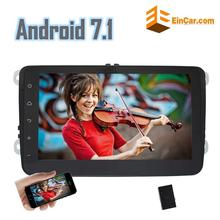 Android 7.1 2 Din Car Stereo In Dash GPS Navigation Radio Receiver Bluetooth WiFi Canbus for VW Jetta Golf Support Rear Camera