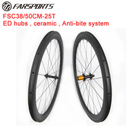 100 Hand Buid Carbon Clincher Wheelset 38mm50mm Rims 23mm Width High Quality Carbon Wheelset 1390g Set