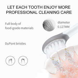 Image 2 - SEAGO Sonic Electric Toothbrush Upgraded Kid Safety Automatic Toothbrush USB Rechargeable with 2 pcs Replacement Brush Head SK2