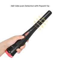 KKmoon Pinpointer Metal Detector Portable Pin Pointer Gold Detector Treasure Hunter Automatic Tuning Belt Holster LED